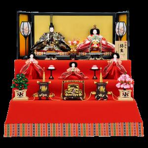 【京 極】 金屏風に赤もうせんの伝統的なスタイル。 華やかな外観が目を引きます。