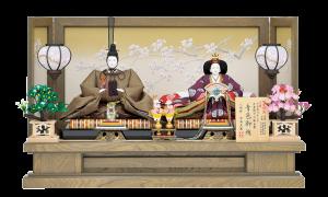 【神 代】 人形は天皇しか着れない有職織物である青色御袍を使用しております。