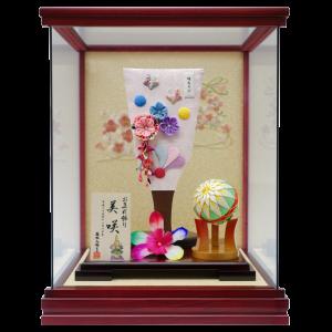 【姫羽子板ケース】可愛い姫羽子板と色鮮やかな小まりをお選びいただけます。100通り以上の組合わせから、お子様だけの1品を。こちらの商品には特製オリジナル名入り木札が付属します。